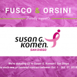 "Fusco & Orsini Participates in ""Promotions That Give Back"" benefitting Susan G. Komen® San Diego"